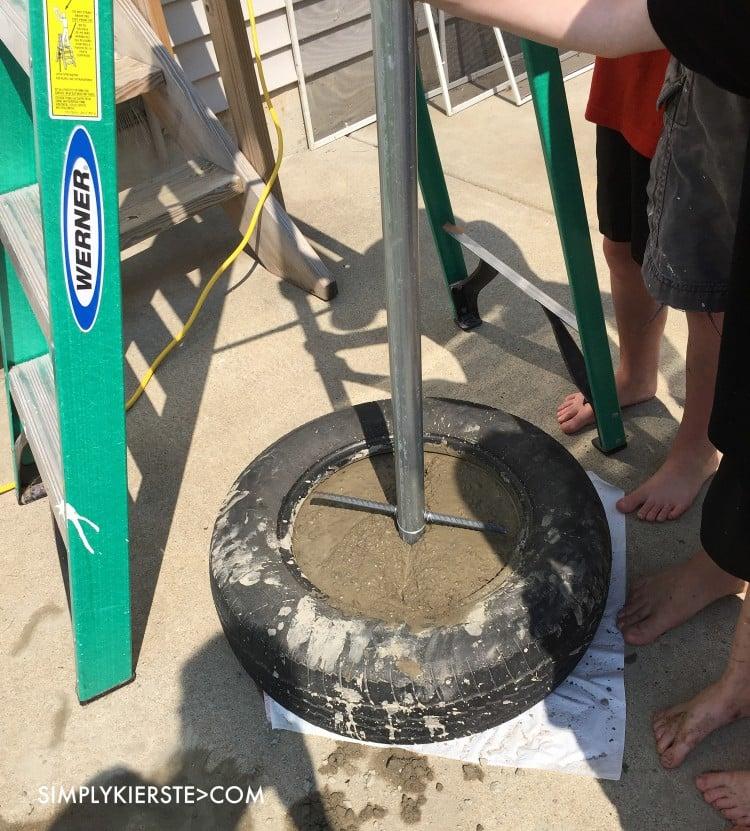 Easy DIY Tetherball Set | simplykierste.com