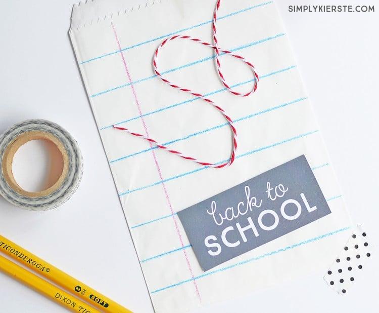 DIY notebook paper treat bags | simplykierste.com