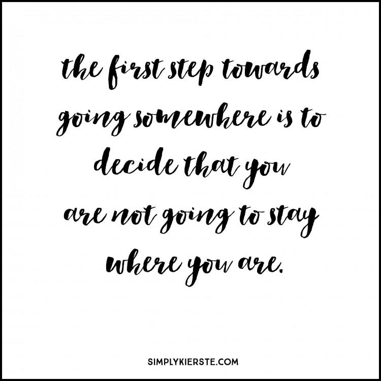 12 steps to change | simplykierste.com