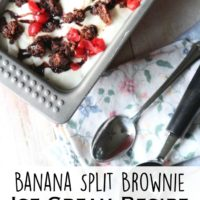 Banana Split Brownie Ice Cream