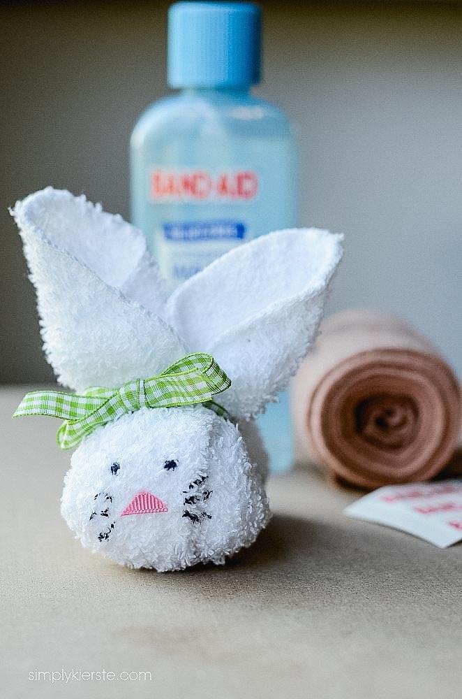 Washcloth Boo boo bunny