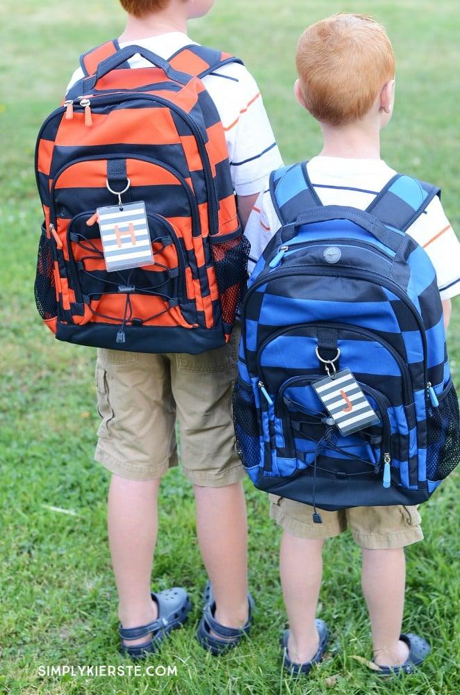 Monogrammed Backpack Tags | simplykierste.com