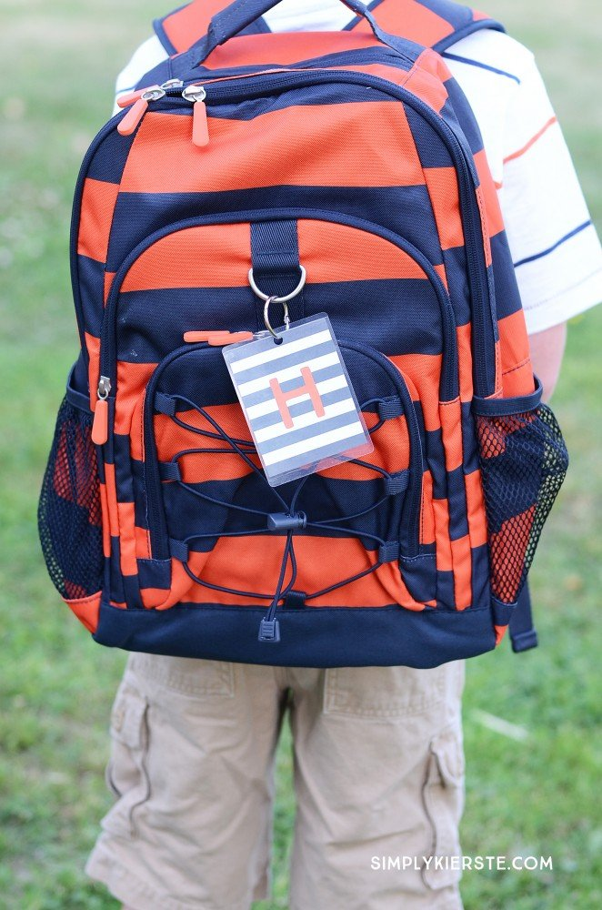 Monogrammed Backpack Tags | oldsaltfarm.com