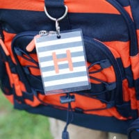 Monogrammed Backpack Tags | simplykierste.com