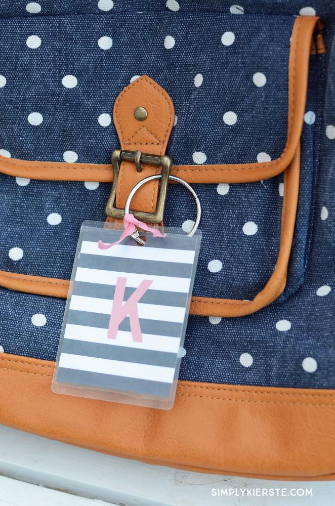 Monogrammed Backpack Tags | oldsaltfarm.com