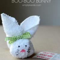 Washcloth boo-boo bunny