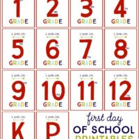 First day of school printables!