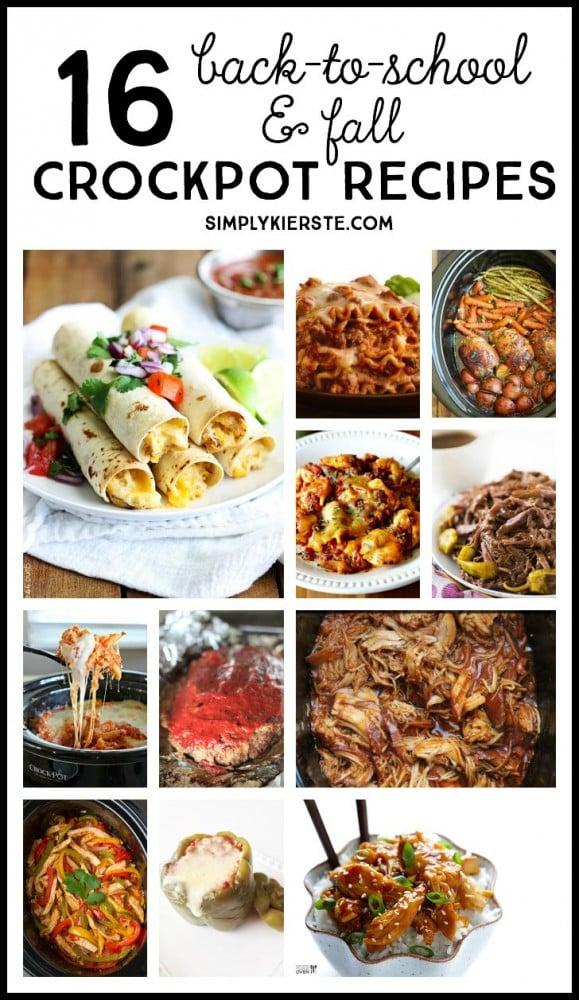 16 Back-to-School & Fall Crockpot Recipes | simplykierste.com