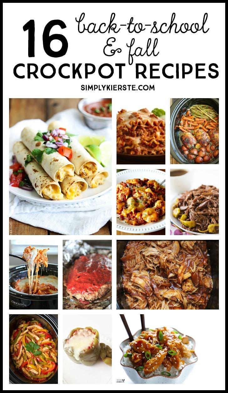 Best back-to-school & fall crockpot meals