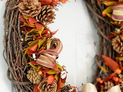 10- minute fall wreath | simplykierste.com