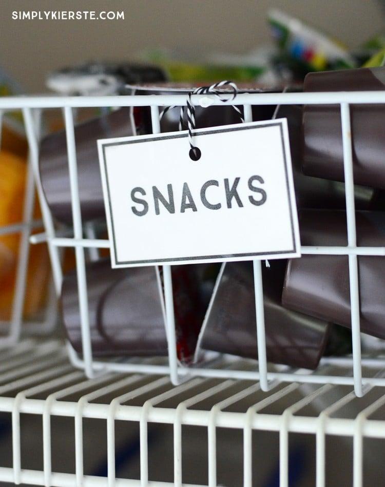 School Lunch Station | Free Printables | oldsaltfarm.com