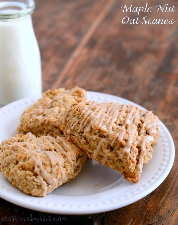 Maple Nut Oat Scones | simplykierste.com