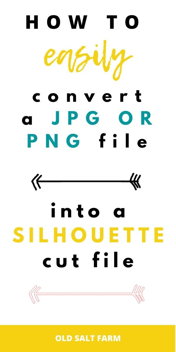 How to easily convert a PNG or JPG file into a Silhouette cut file