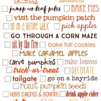 Fall Bucket List | Free Printable | simplykierste.com