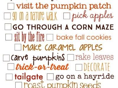 Fall Bucket List | Free Printable | simplykierste.com