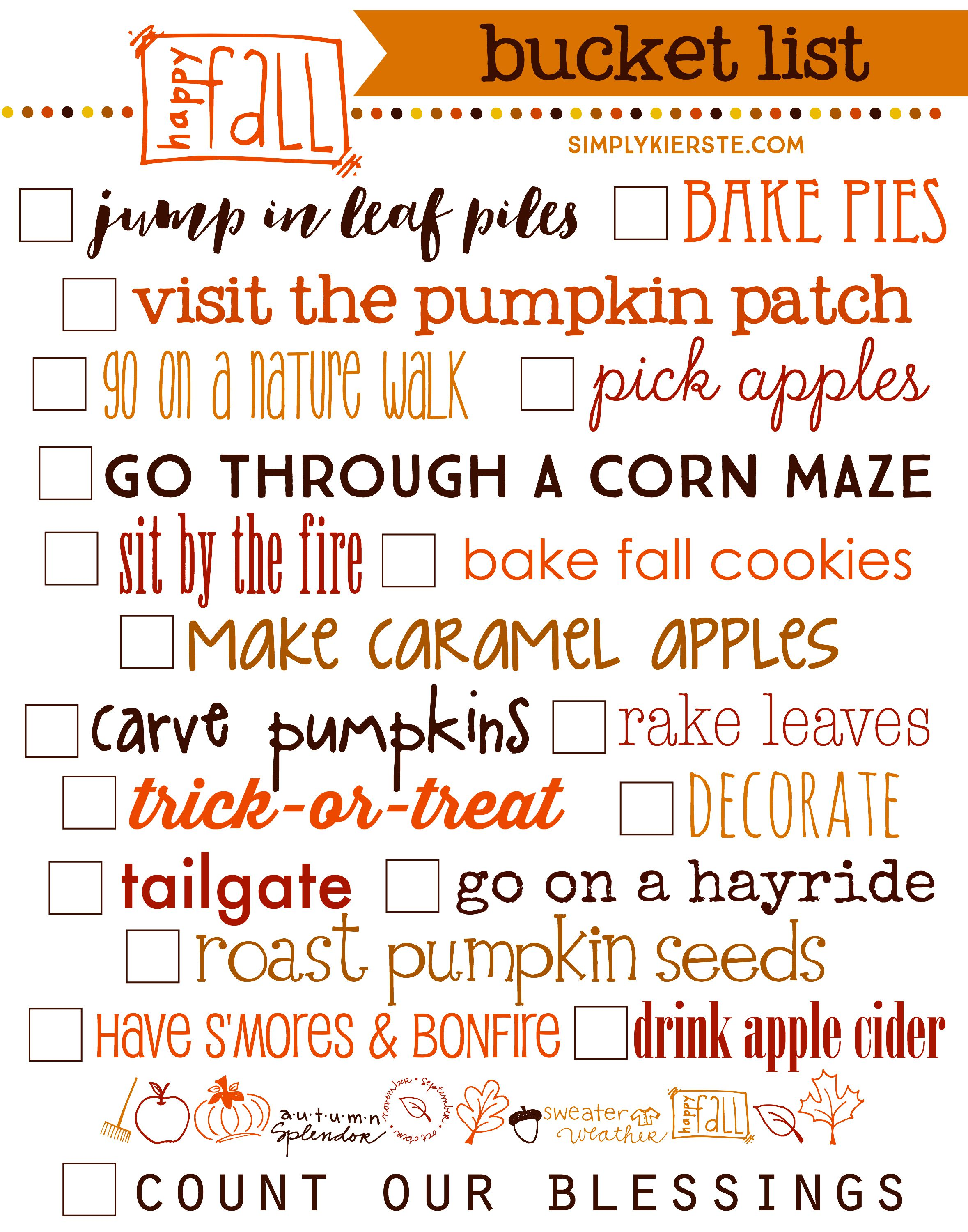 Fall Bucket List: 19 ways to celebrate autumn ...