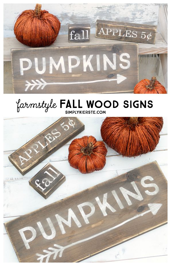 Farmstyle Fall Wood Signs | simplykierste.com