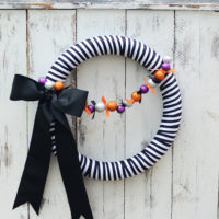 Striped Halloween Wreath