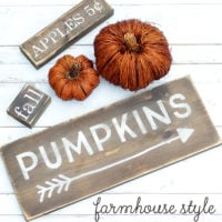 Farmhouse Style Wood Fall Signs  + Free Silhouette Cut Files