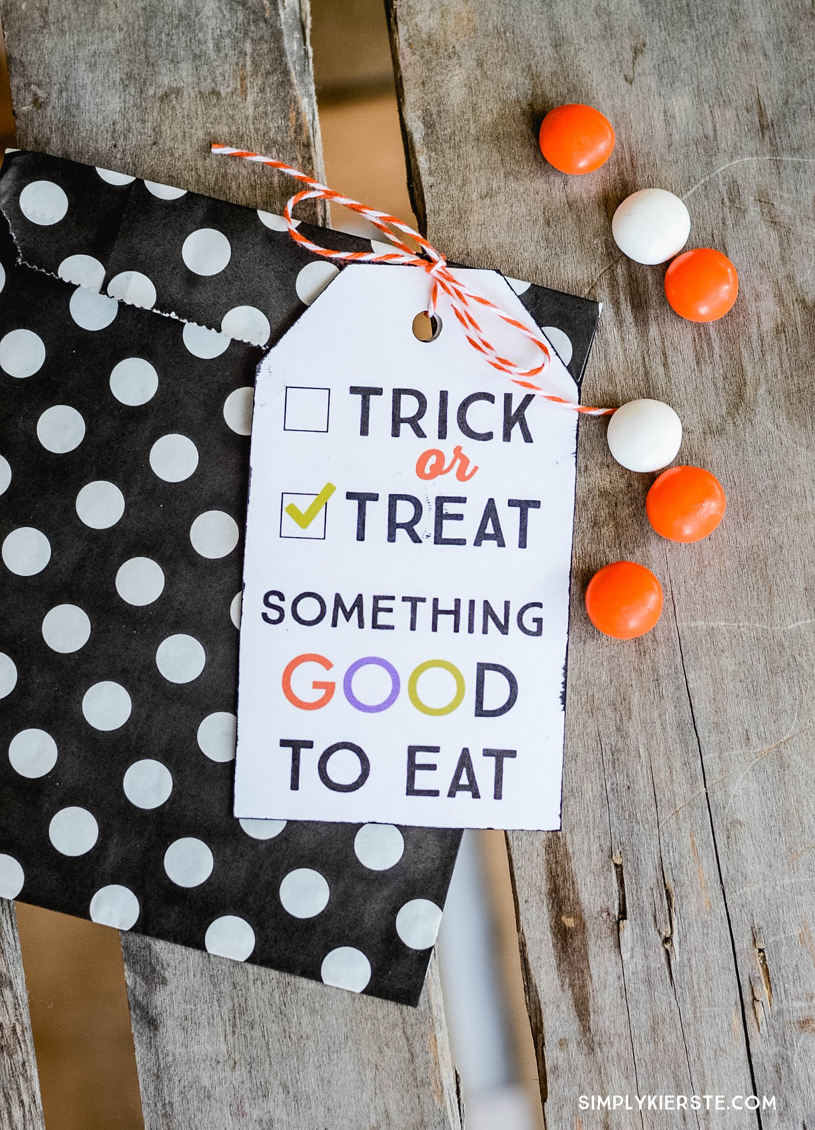 Trick or treat printable t tag