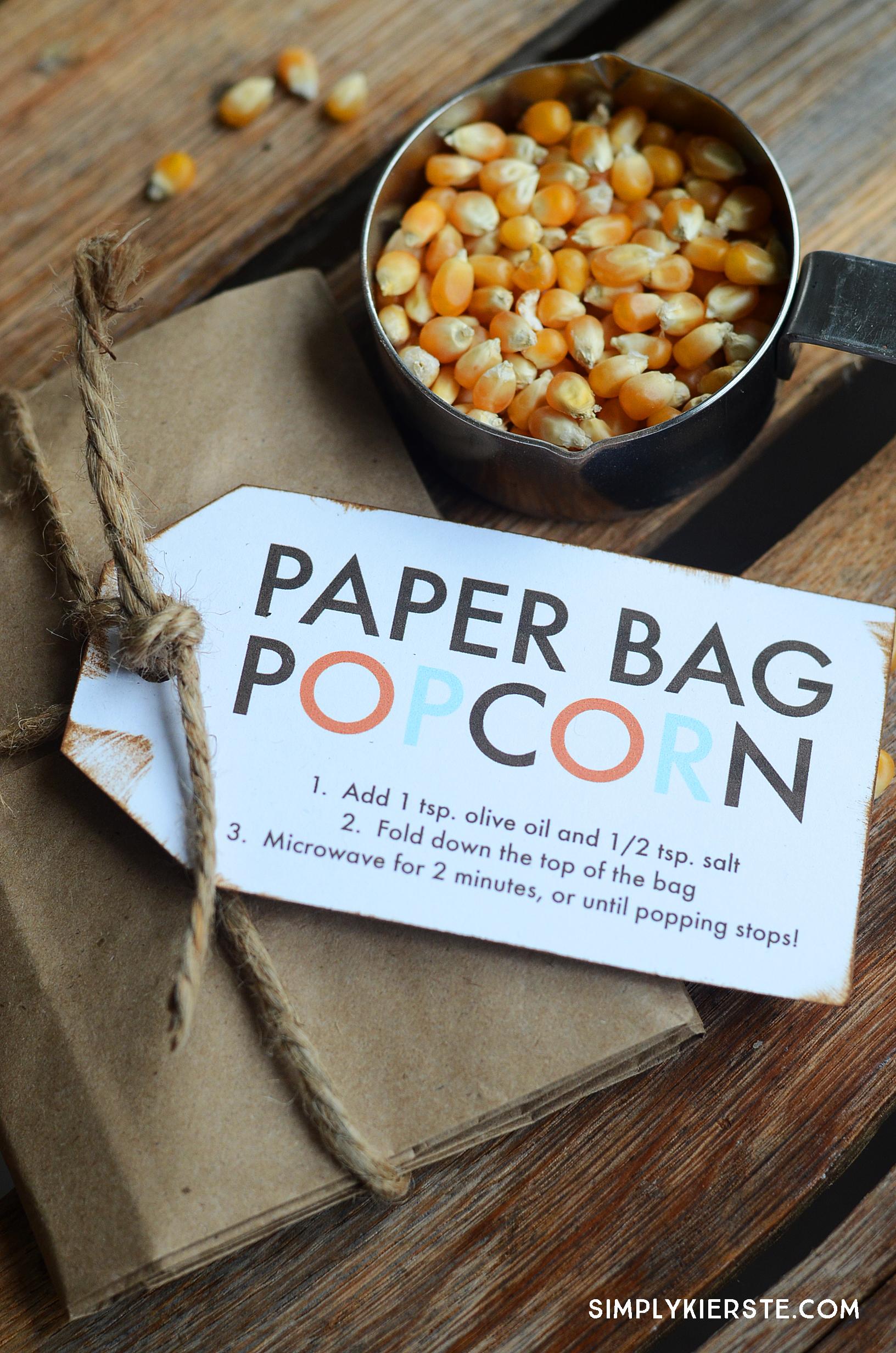 Paper Bag Popcorn | simplykierste.com
