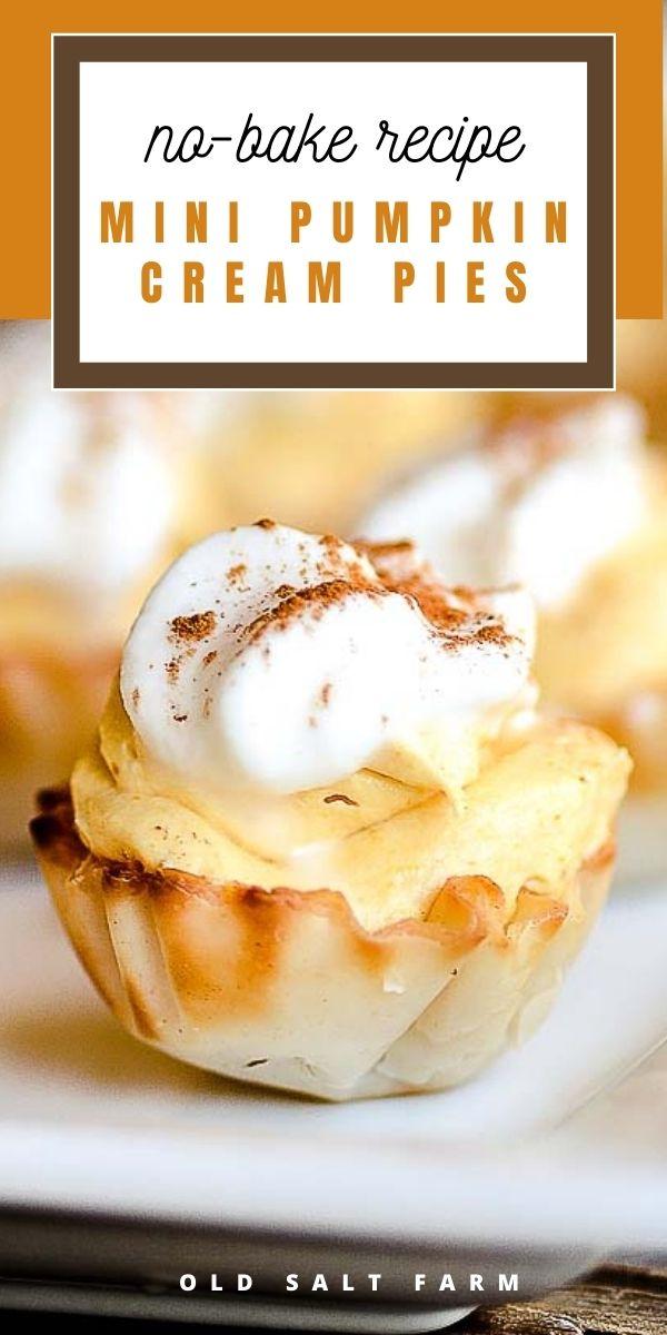 Mini No-Bake Pumpkin Cream Pies
