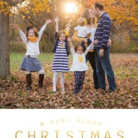 Free Christmas card templates…plus easy tutorial!