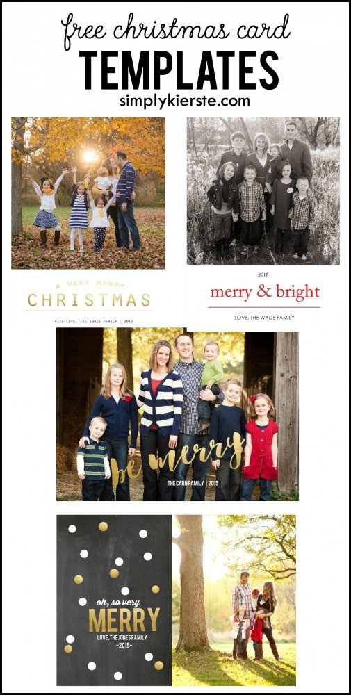 Free Christmas Card Templates - Free christmas card templates for photographers