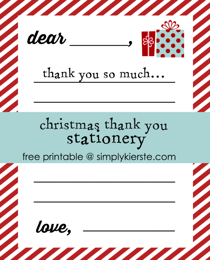 Christmas Thank You Stationery | simplykierste.com