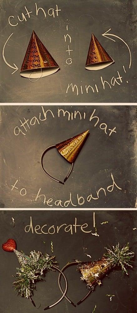 Mini Hat Headband | New Year's Eve | oldsaltfarm.com