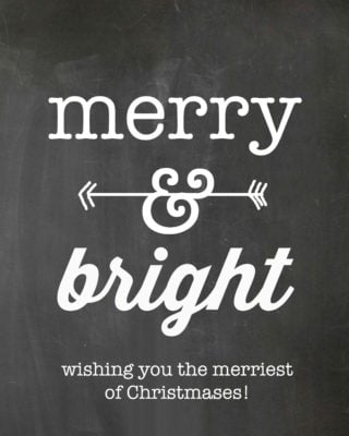 chalkboard tag merry & bright 1