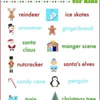 christmas lights scavenger hunt for kids & families | free printable | oldsaltfarm.com
