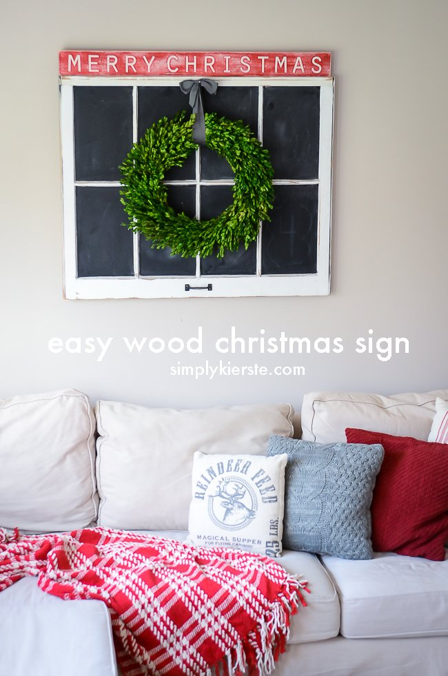 Easy Wood Christmas Sign | simplykierste.com