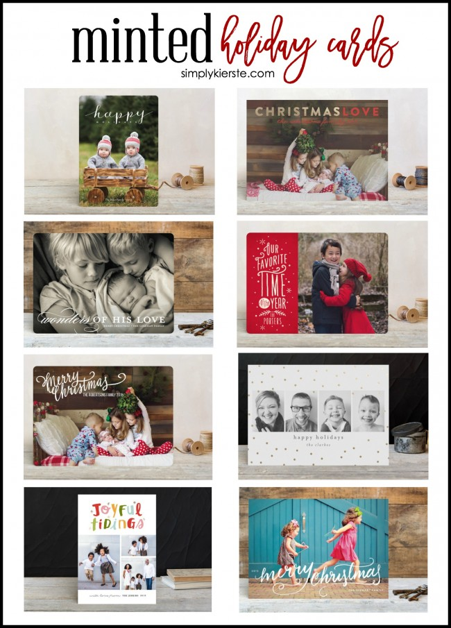 Minted Holiday Cards & Giveaway | simplykierste.com
