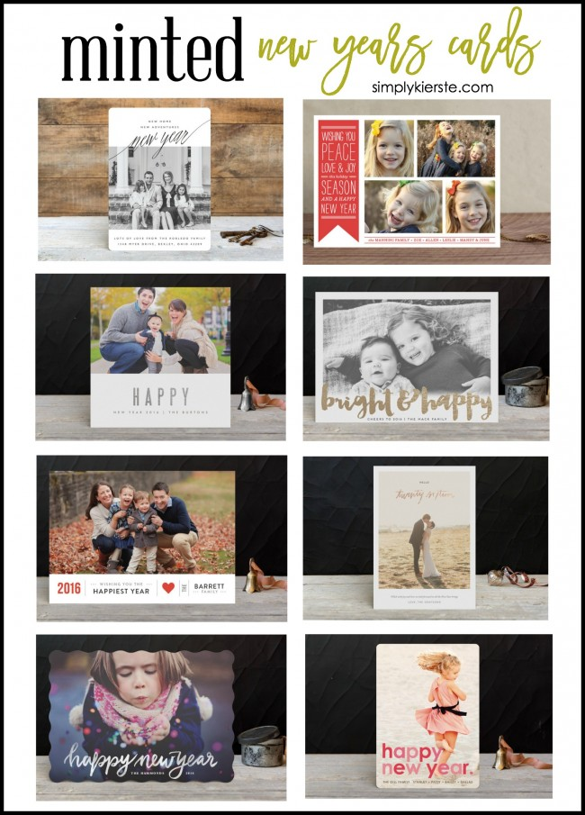 Minted New Years Cards | simplykierste.com