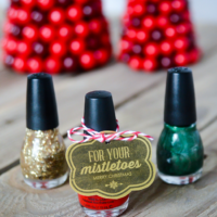 For your mistletoes…a Christmas gift idea & printable