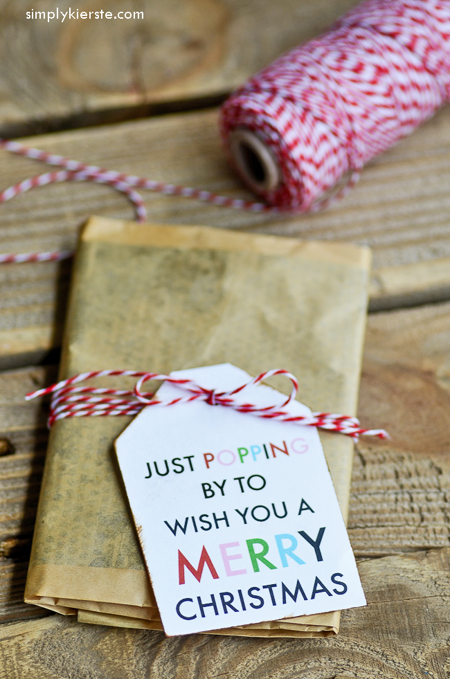 Just popping by to wish you a Merry Christmas! (Popcorn gift idea)