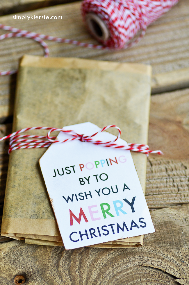 Just popping by to wish you a Merry Christmas | free printable tag | oldsaltfarm.com