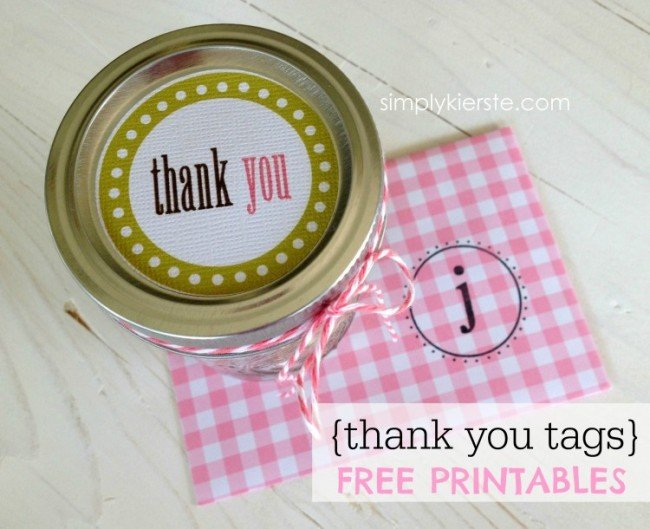 Thank you tags for mason jars | simplykierste.com