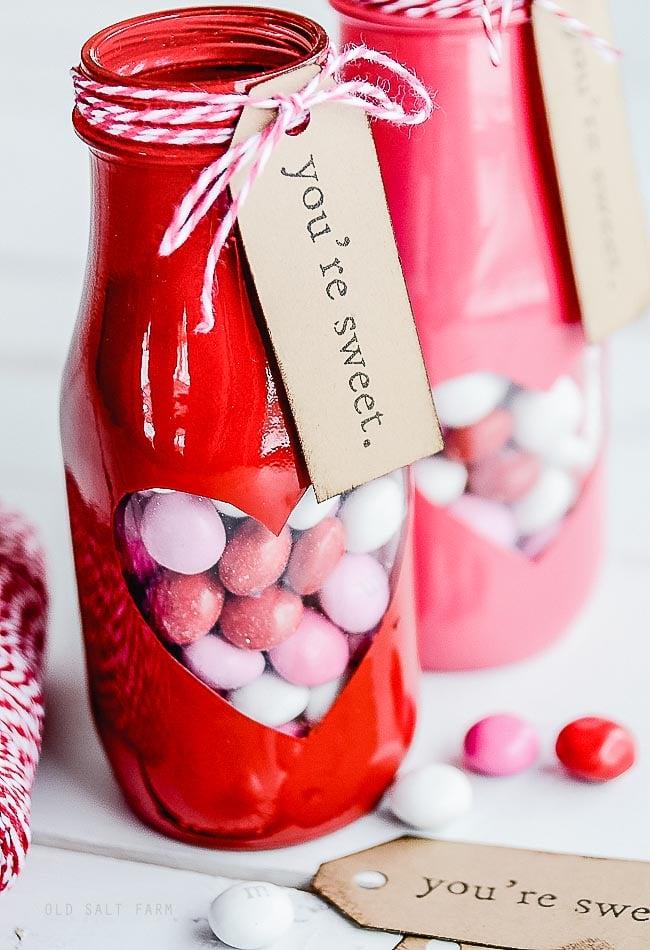 Peek-a-boo Valentine Treat Jar