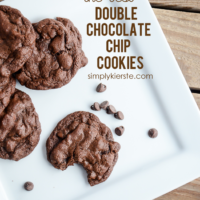 The BEST Double Chocolate Chip Cookies | simplykierste.com