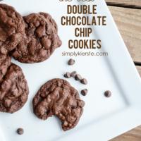 The BEST Double Chocolate Chip Cookies | oldsaltfarm.com