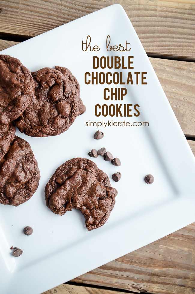 The BEST Double Chocolate Chip Cookies | oldsaltfarm.com