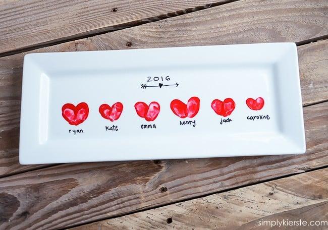 Heart Thumbprint Platter | oldsaltfarm.com