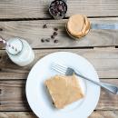 Peanut Butter Chocolate Chip Sheet Cake | simplykierste.com