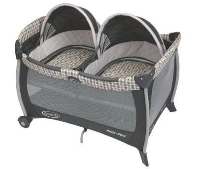 Pack 'n Play Twins Bassinet | Twins Must Haves | simplykierste.com