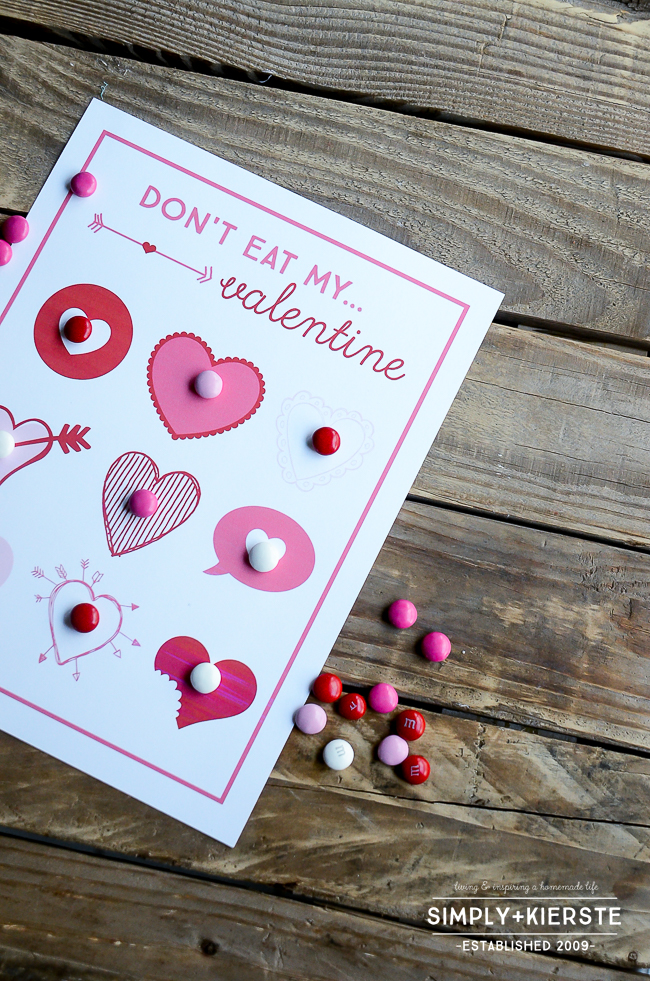 Don't Eat My Valentine | Valentine's Day Game for Kids| oldsaltfarm.com