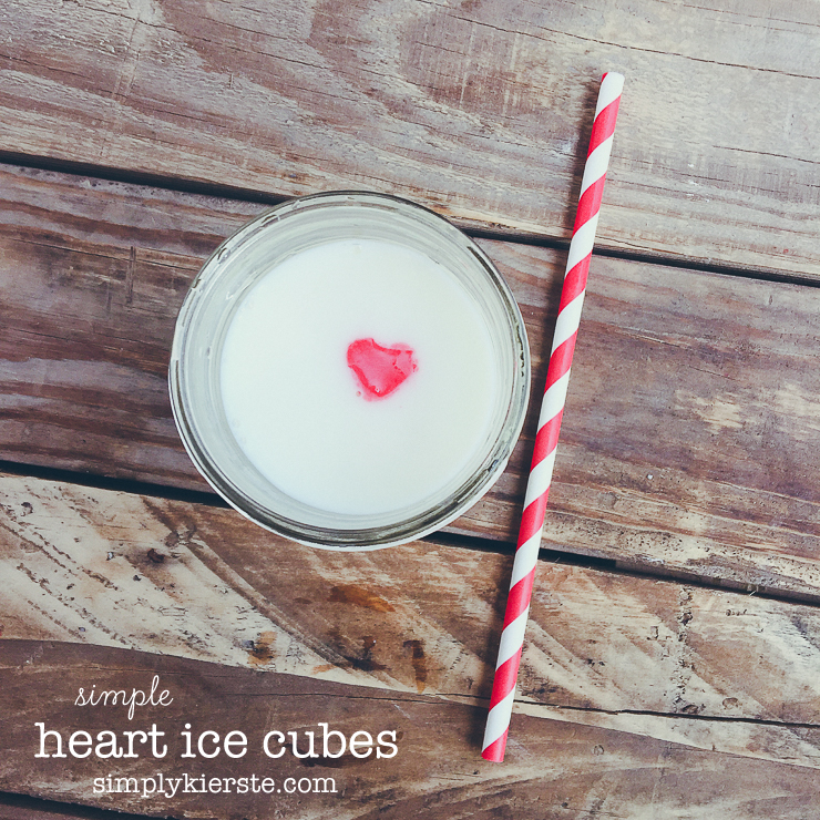 Easy & Adorable Heart Ice Cubes