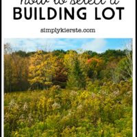 Building Old Salt Farm Series:  How to select a building lot