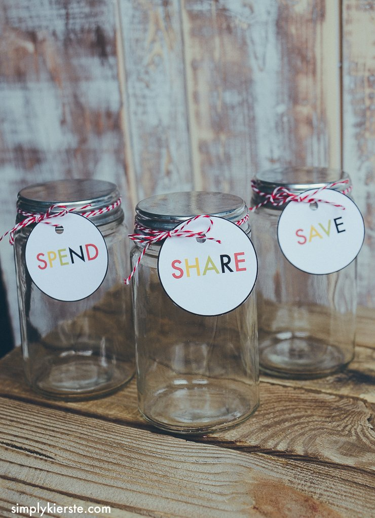 save spend share savings jar for kids   oldsaltfarm.com